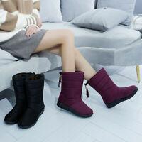 Women's Snow Queen Waterproof Boots Velvet Snow Boots Waterproof and Non-sl R8F9