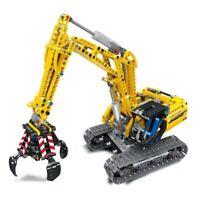 Compatible Legoinglys Technic Excavator Model Building Blocks Brick Without Moto