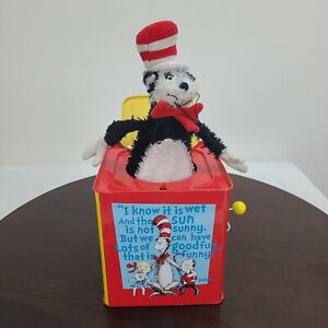 Schylling Dr Seuss Cat In The Hat Jack In The Box Musical Pop Up Toy Red Yellow