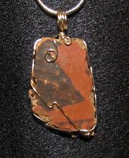 Anasazi shard sherd wire wrap sp snake chain necklace natural stone pendant E111