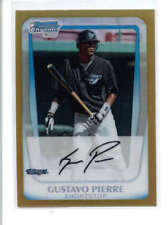 GUSTAVO PIERRE 2011 BOWMAN CHROME #BCP127 GOLD REFRACTOR ROOKIE RC #13/50 AC554