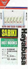 2 Hayabusa S002ae Size 6 Saltwater Red Hot Hooks Sabiki Rigs