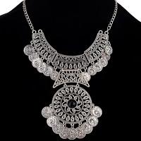 Statement Long Boho Coin Necklace Vintage Bohemian Retro Tribal Fashion Jewelry