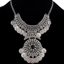 Statement Long Boho Coin Necklace Vintage Bohemian Retro Tribal Fashion Jewelry