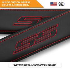 Seat Belt Covers Shoulder Strap Leather Pads Custom Fits Chevrolet Ss Black 2Pcs