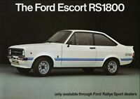 FORD ESCORT RS1800 RALLYE SPORT RETRO POSTER PRINT CLASSIC 70's ADVERT A3