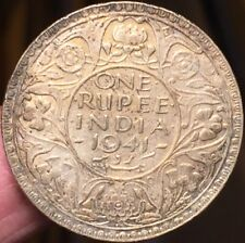 British India 1941 One Rupee, Silver Bombay mint Better Grade- Please See Pics