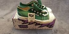 Vintage Vans Usa boy 5.5 Womens 7 Blucher canvas Green Cap Toe Nib Deadstock 90s