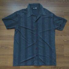 Positano Men's XL Club Shirt Charcoal Gray Short Sleeve
