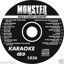 KARAOKE MONSTER HITS CD+G MALE CLASSIC COUNTRY  #1036