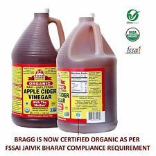 Bragg Apple Cider Vinegar 128 oz/ 1 gallon w/The Mother - USDA Certified Organic