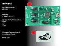 Flight Simulator Controller Board Interface (USB)  - 32 Push Button