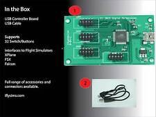 Flight Simulator Controller Board Interface (USB)  - 32 Push Button