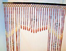 2 Vintage Antique Wood Beaded Portiere Door Curtain Valance Architectural Beads