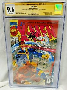 X-MEN #1 CGC 9.6 3X SIGNED SS BY STAN LEE, JIM LEE & CLAREMONT! WOLVERINE COVER