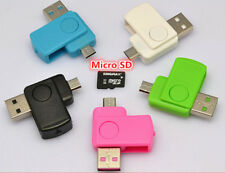 2 in 1 Micro USB 2.0 OTG Adapter + Micro SD TF Card Reader for Android Phone jd