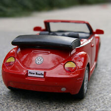 Convertible VW Beetle 2003 Model Cars 1:32 Alloy Diecast Collection&Gift Red Toy