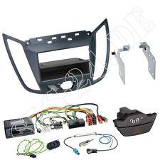 Ford C-Max Kuga 2-din radio diafragma + especializada gris volante Interface Alpine Sony Clarion