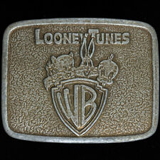 Looney Tunes Cartoon Bugs Bunny Tweety Bird Porky Pig 70s Vtg Belt Buckle