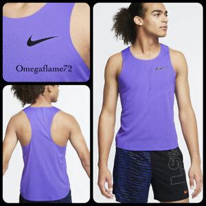 Nike Aeroswift Men's Running Vest, AQ5247-550, Sz XL, Laser Purple, BNWT