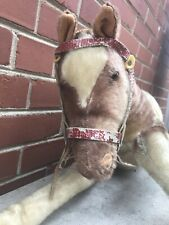 "Large 28"" Rare Antique Vintage Steiff Horse? Ride On Mohair Germany Collectible"