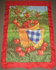"New listing Vintage 29"" x 42"" Autumn Fall Apple Harvest Basket Outdoor Garden Home Flag"