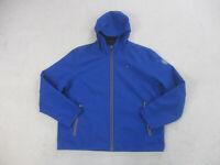 Tommy Hilfiger Jacket Adult 2XL XXL Blue Flag Coat Hoodie Full Zip Mens B06 *