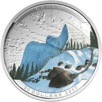 CANADA LANDSCAPE ILLUSION SNOWY OWL SILVER 20$ 2017