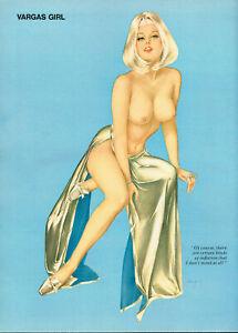 Vintage Alberto Vargas Girl Blonde Female Nude Lingerie Pin Up Art Print b
