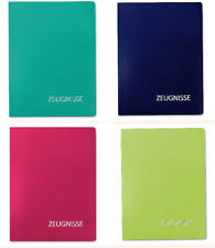 *Roth*Zeugnismappe*Dokumentenmappe*Schule*Kunststoff*uni*pink*blau*grün*türkis*