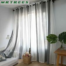 Curtains Windows For Living Room Bedroom Kitchens Modern Tulle Fabric Drapes New