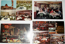 4 Vintage CHICAGO, IL RESTAURANT Cards-PENNY'S/CHIAM/SWISS CHALET/FIREPLACE INN