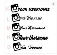 Instagram username plugin stickers SKYLINE  JDM Sticker Decal Daily Driven WRX