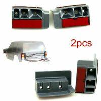 2xAuto LED Licht Halterung Housing für Axial SCX10 II AX90046 90047 1:10 Crawler