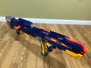 Nerf Longshot CS-6 Dart Blaster 2 Piece Blaster With 1 Clip Tested Works!