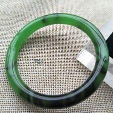 56.3mm Green purple Jadeite jade Bangle jade Bracelet Handmade K114