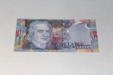 De La Rue Currency NEWTON Test Banknote