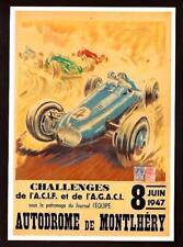 Autodrome de Montlhery - riproduzione su cartolina di manifesto d'epoca