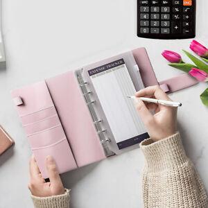 Notebook Budget Budget Binder Cover Cash Plan Cash Envelopes Envelope PU Leather
