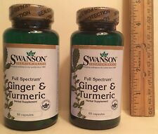 TWO, Ginger (300 mg) & Turmeric (300 mg), from Swanson >>>  120 capsules (total)