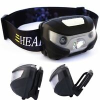 LED Sensor Headlamp Headlight USB Rechargeable Camping Lamp Torch Flashlight