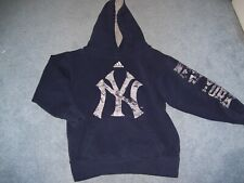 New York Yankees Adidas Boy's Size Small (8) Hooded Sweatshirt Pre-Owned Blue
