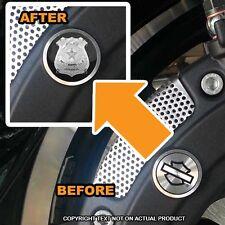 Brembo Front Brake Caliper Insert Set For Harley - POLICE BADGE - 020