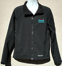 Marmot Mens Full Zip Elastane Polyester Jacket Coat Black Corporate Logo Large