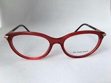 BURBERRY B 2177 3495 Eyeglasses Frame Transparent Red Cat Eye 51mm - 16