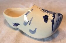 Collectable Vintage Blue And White Dutch Delft Clog Windmill Pattern