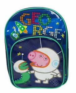 Peppa Pig Cosmic George Two Pocket Backpack School Bag Rucksack