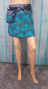 Fair Trade Boho Reversible Wrap Skirt Hippy Summer Hippie Hand Made Cotton Nepal