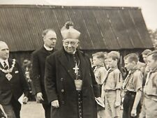 More details for art deco photograph cub scouts inspection by mayor & catholic bishop blackpool