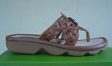 NEW EARTH  BROWN CALF LEATHER SANDALS SIZE 8 M $80